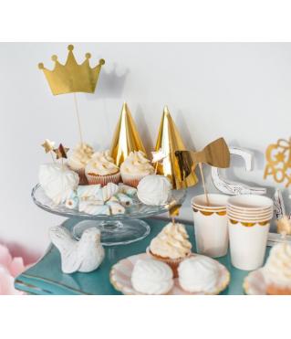 """Набор для украшения праздника """"Розовое золото"""", тарелки, стакан., топперы, шпажки, гирлянда, снек-бокс"""