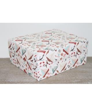 Коробка подарочная 280*230*120 мм, дизайн 2020-4, полноцветная