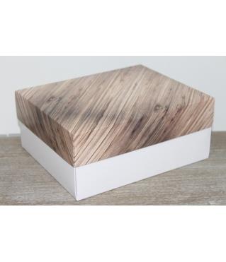 Коробка подарочная 280*230*120 мм, дизайн 2020-1,  с белым дном