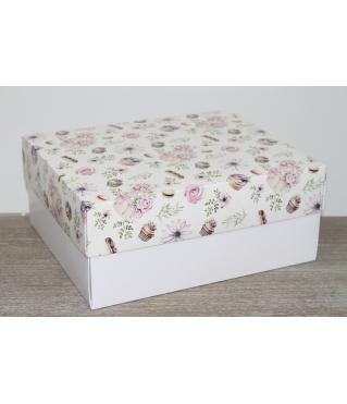 Коробка подарочная 280*230*120 мм, дизайн 2020-6, с белым дном