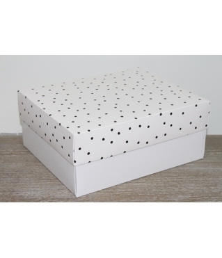 Коробка подарочная 280*230*120 мм, дизайн 2020-5, с белым дном