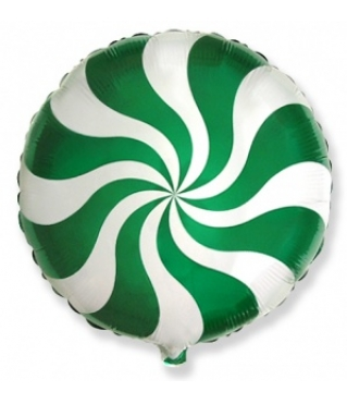 Воздушный шар (18''/46 см) Круг, Леденец, Зеленый