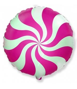 Воздушный шар (18''/46 см) Круг, Леденец, Фуше