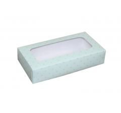 Коробка подарочная с окном 180*90*40 мм, дизайн 01