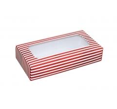 Коробка подарочная с окном 180*90*40 мм, дизайн 02