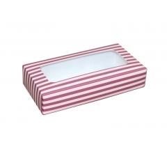 Коробка подарочная с окном 180*90*40 мм, дизайн 03