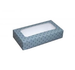 Коробка подарочная с окном 180*90*40 мм, дизайн 012