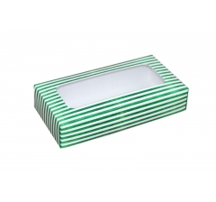 Коробка подарочная с окном 180*90*40 мм, дизайн 07