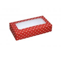 Коробка подарочная с окном 180*90*40 мм, дизайн 017