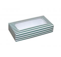 Коробка подарочная с окном 180*90*40 мм, дизайн 09