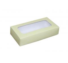 Коробка подарочная с окном 180*90*40 мм, дизайн 014