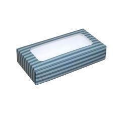 Коробка подарочная с окном 180*90*40 мм, дизайн 011