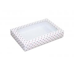 Коробка подарочная с окном 230*150*40 мм, дизайн 013