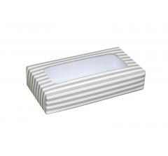 Коробка подарочная с окном 180*90*40 мм, дизайн 021