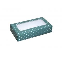 Коробка подарочная с окном 180*90*40 мм, дизайн 023