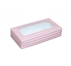 Коробка подарочная с окном 180*90*40 мм, дизайн 024