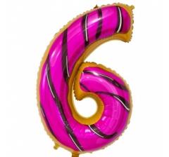 Цифра 6, размер 102 см, Пончик