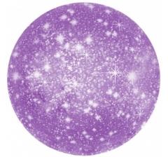 Шар (18''/46 см) Круг, Искры, Фиолетовый