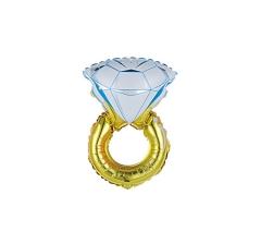 Шар (40''/102 см) Фигура, Кольцо с бриллиантом
