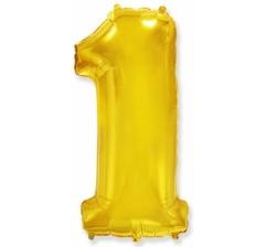 Цифра 1, размер 102 см, золото