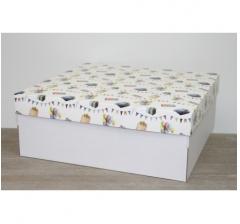 Коробка подарочная 350*350*150 мм, дизайн 2020-11 белое дно