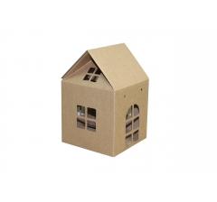 Коробка-домик  120*120*120 мм (без крыши), крафт