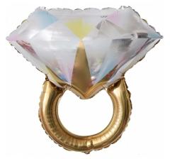 Шар (27''/69 см) Фигура, Кольцо с бриллиантом, Золото