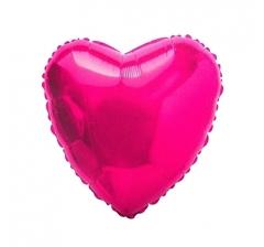 Фольгированный шар (18''/46 см) Сердце, Фуше