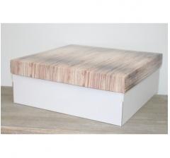 Коробка подарочная 350*350*150 мм, дизайн 2020-1 белое дно