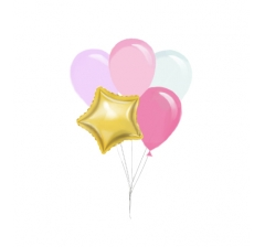 Связка шаров ( 1 фольгированный и 4 латексных)