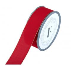 Лента декоративная 225381 3,8*10 м, красная
