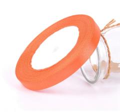 Лента атласная 25 мм/30 м, насыщенно-оранжевая