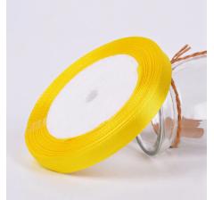 Лента атласная 25 мм/30 м, желтая