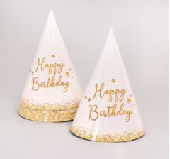 "Набор бумажной посуды ""Happy Birthday"" (6 тарелок , 1 гирлянда , 6 стаканов, 6 колп.)"