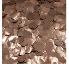 Конфетти фольга, круги, розовое золото, 1 см, 10 гр