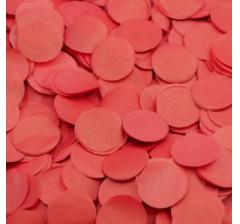 Конфетти тишью, круги, красное, 1, 5 см, 10 гр