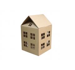 Коробка-домик  200*200*230 мм (без крыши), крафт