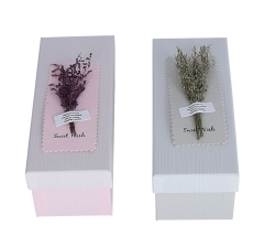 Коробка подарочная, серый 9cm /10cm /24cm