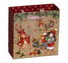Пакет подарочный 14,5*15*6 см ,08-x02-01