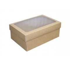 Размер 270*180*110 мм, крафт коробка с окном