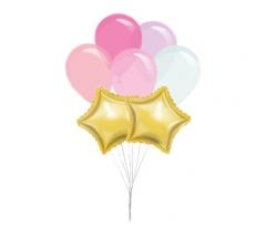 Связка шаров ( 2 фольгированных и 5 латексных)