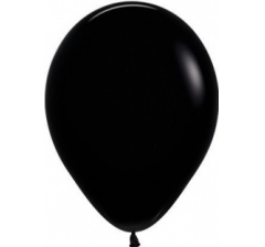 Шар (12''/30 см) Черный , пастель,