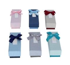 Коробка подарочная, бордовый низ, 4cm /4cm /12cm,