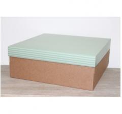 Коробка подарочная 350*350*150 мм, дизайн 2020-4 крафт дно