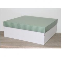 Коробка подарочная 350*350*150 мм, дизайн 2020-4 белое дно