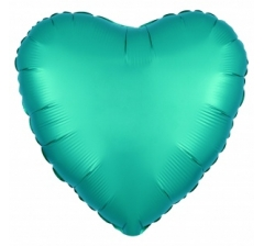 Шар (19''/48 см) Сердце, Бискайский зеленый(Тиффани), Сатин