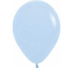 Шар (12''/30 см) Макарунс, Нежно-голубой, пастель