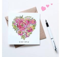 "открытка ""сердце"", размер: 10*10 см"