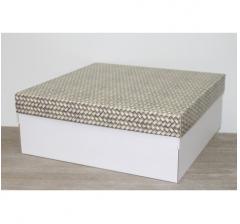 Коробка подарочная 350*350*150 мм, дизайн 2020-5 белое дно