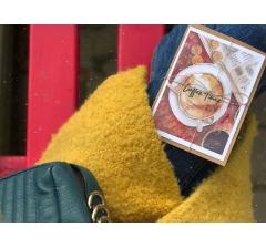 акварельная открытка в крафт конверте №5